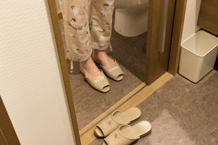 Toilet slippers