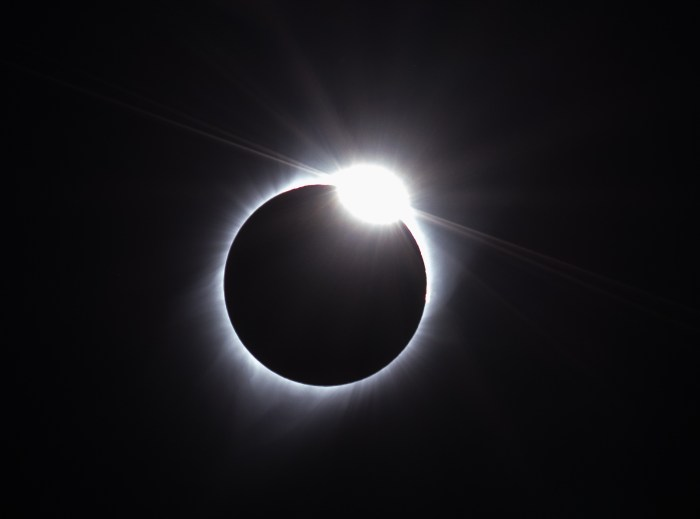 The Diamond Ring of the Eclipse