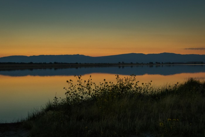 Lake Cameahwait During the Eclipse