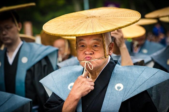 Japanese Man in Parade