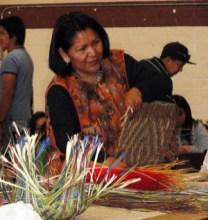 Hopi basket making at Verde Valley Archaelogy Fair