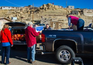 Unloading at Hopi. Photo by Jackie Klieger