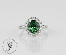 SparHawk Maine Tourmaline and Diamond Ring - Reference Number: F6264
