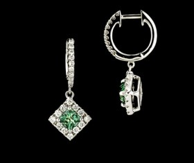SparHawk Maine Tourmaline and Diamond Earrings - Reference Number: F7145