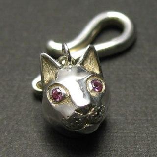 かわいがってください。猫のペンダント「CAT PENDANT(ピンクトルマリン)」