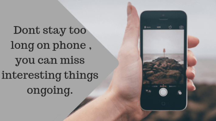 Dont stay too long on phone