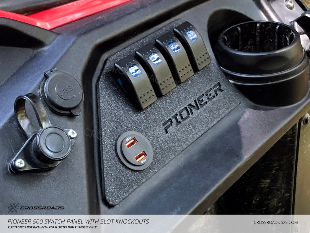 Honda Pioneer 500 switch plate storage box