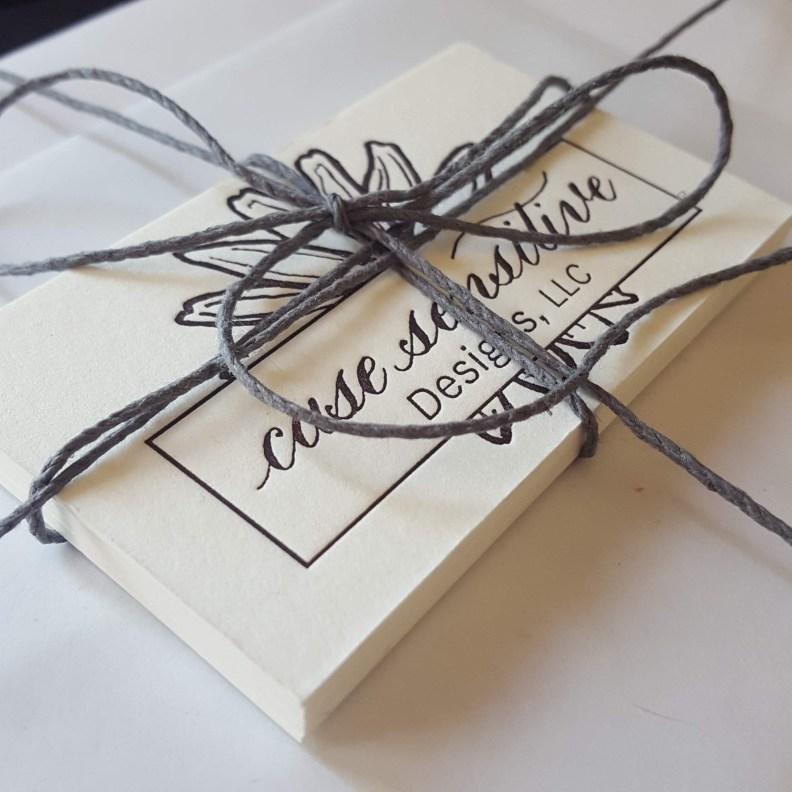 Letterpressed business cards by Case Sensitive Designs LLC