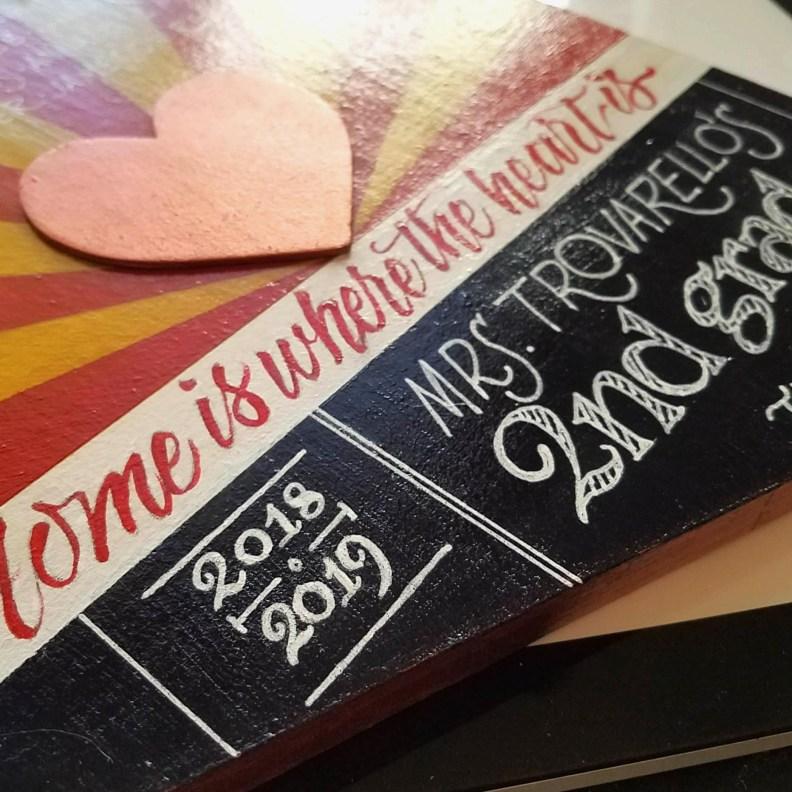 Arizona Shaped Handmade Sign for a Teacher