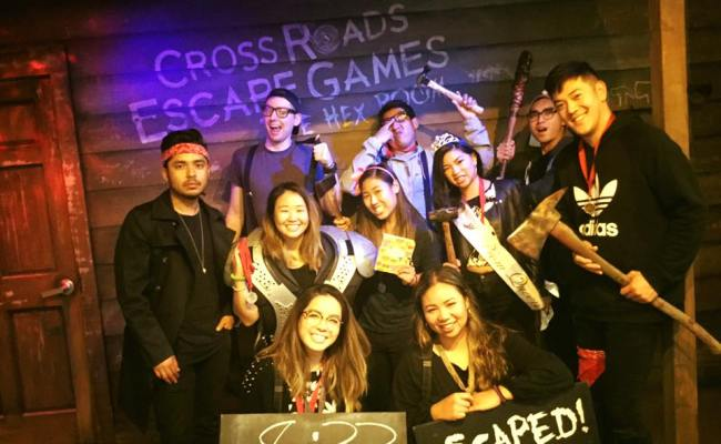 Group At Hex Room Cross Roads Escape Games