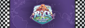 "Large image banner for the 2019 VBS Event named ""The Incredible Race"" at Crossroads Church"