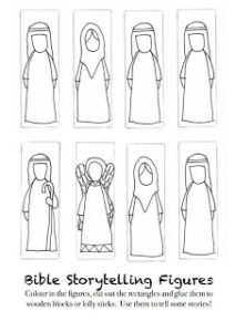 Freestanding Bible Characters to Color and Make