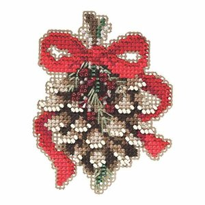 Cross stitch with beads
