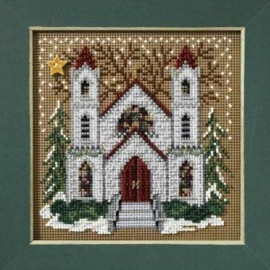 Beaded Cross Stitch Kit - Church