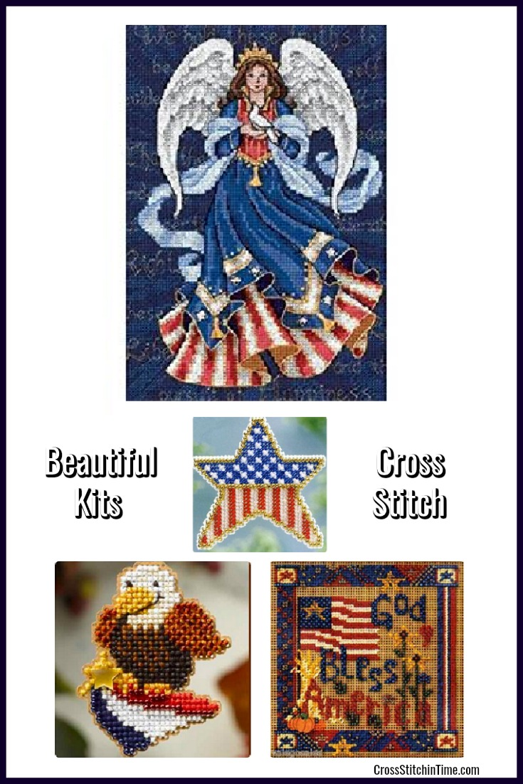 Patriotic American cross stitch kits