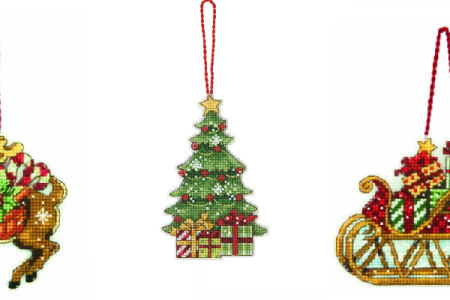 cross stitch christmas single ornament kits - Christmas Decoration Kits