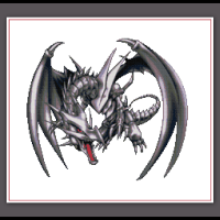 Yugioh Cross Stitch Pattern Red Eyes Black Dragon