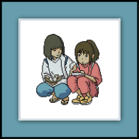 Free Spirited Away Cross Stitch Pattern Haku And Chihiro
