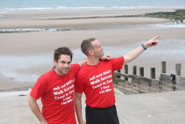 Cross the UK: Coast to Coast Walk St Bees Point with Mick Fenwick and Richard Jefferson