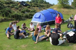 Cross the UK: HTCS Duke of Edinburgh Silver Final Expedition Relaxing at Raven Gill Scout Campsite