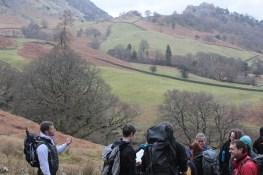 Mr Fenwick explaining about the landscape