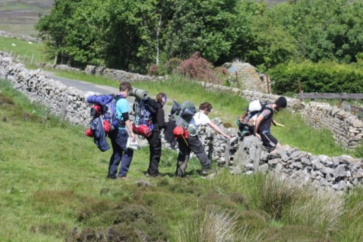D of E students exploring the Yorkshire Dales countryside