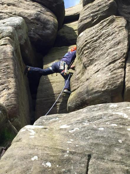 Climbing at Brimham