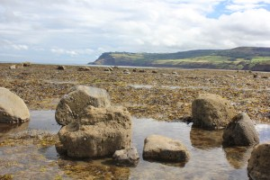 The moorland stretching out and encompassing Robin Hoods Bay