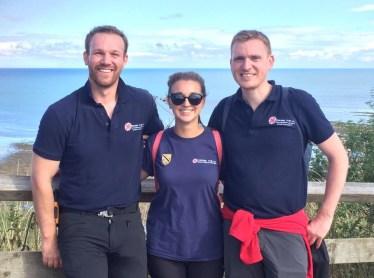 Team Cross the UK at Robin Hoods Bay