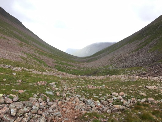 Our trail run descent of the Lairig Ghru
