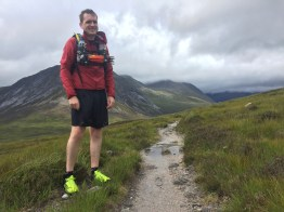 Stoney on our trail run descent of the Lairig Ghru