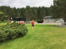 Stoney leaving Glenmore Lodge on our Lairig Ghru trail run