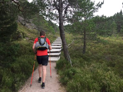 Ascending Castle Hill to the Lairig Ghru