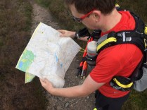 Stoney checking the route