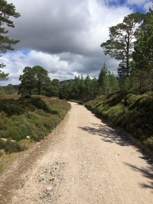 The track up Glen Lui