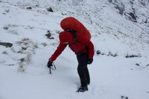Deep snow on the Gatescarth Pass