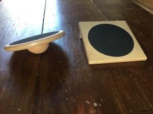 The slant board and wobble board