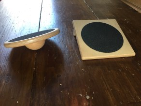 The slant board and wobble board