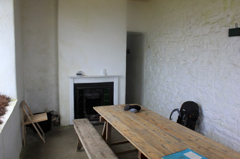 Inside bothy two in the Yorkshire Dales