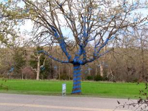 Blue Ribbon Child Abuse Awareness Tree
