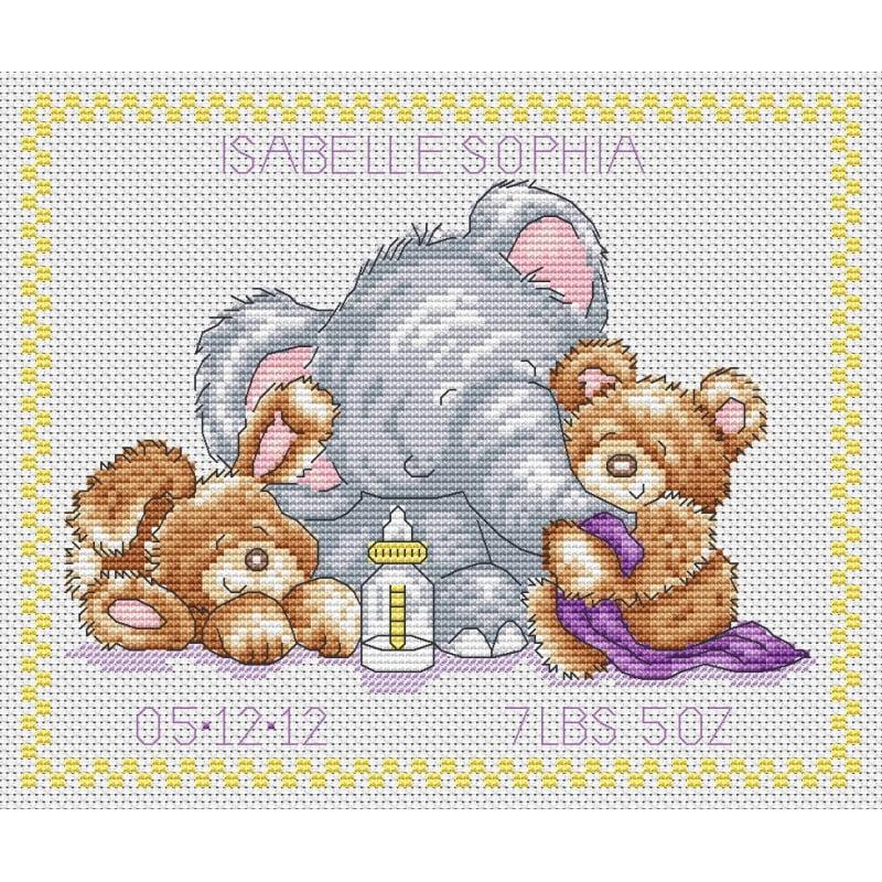 Cross Stitch Baby Sampler  Free Cross Stitch Patterns
