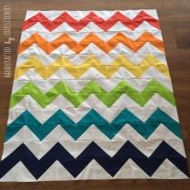Chevron Baby Quilt - Quilt Top