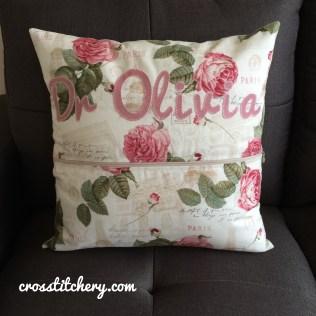 Love Heart Cushion Back