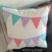 Bunting Cushion Back -