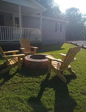 Fire pit at Camp