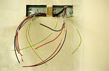 house wiring literally ripped out through wall outlets by thieves on rh crossvillenews1st com wiring wall outlet with switch electrical wall outlet wiring
