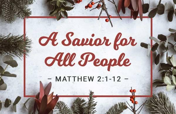 Christmas: A Savior for All People