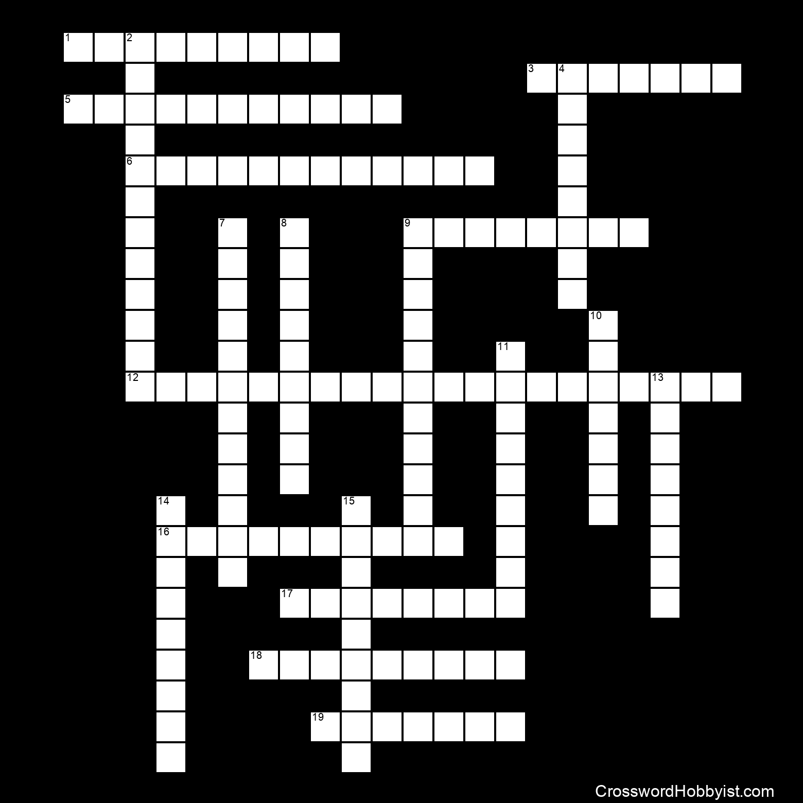 Cells Crossword Puzzle