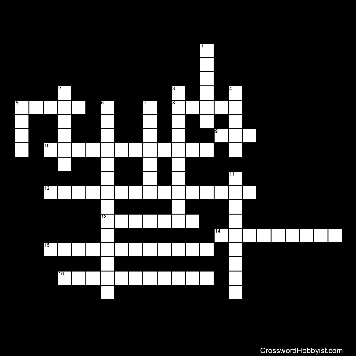Geological Time Crossword