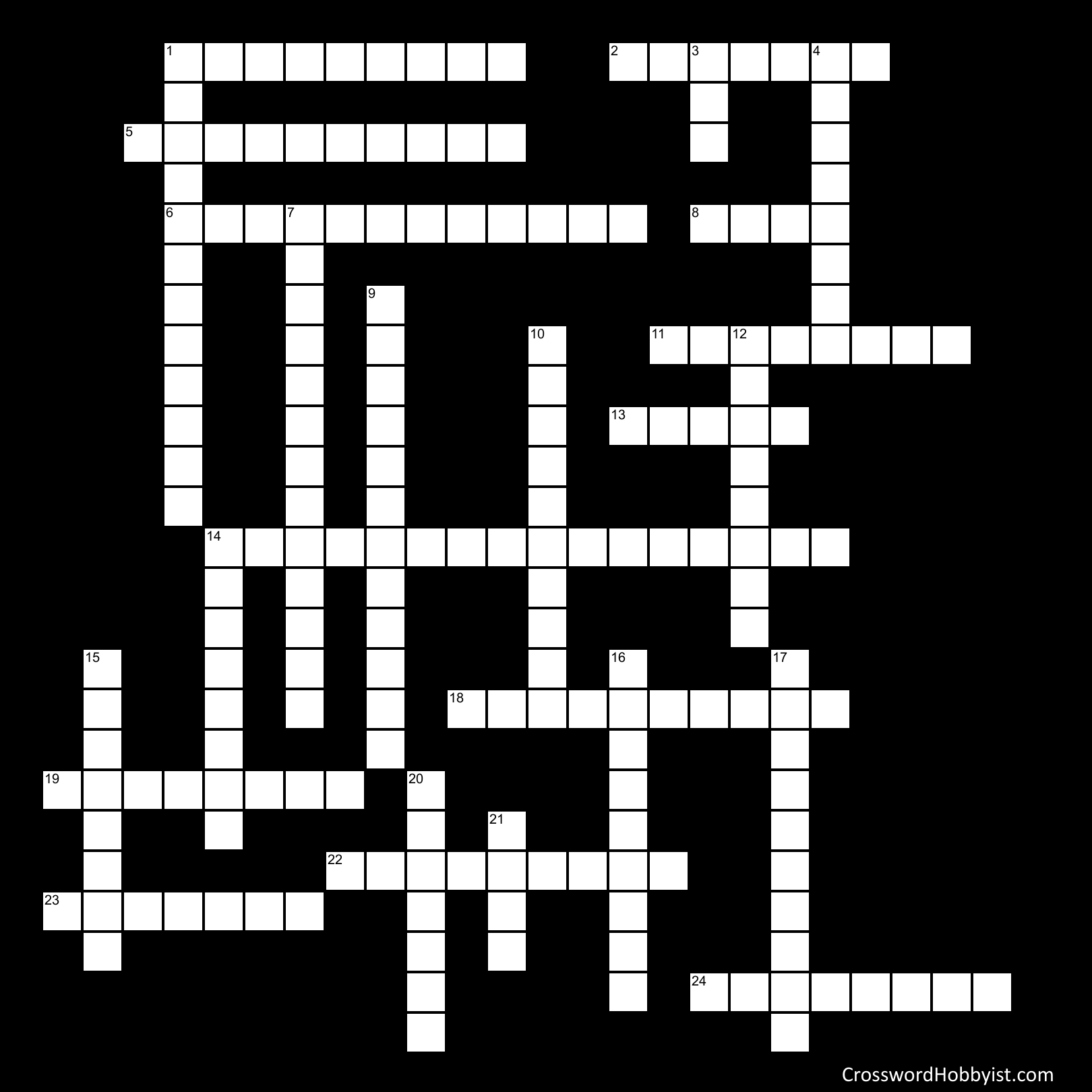 Musical Theater Crossword Puzzle